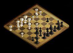Ilusión óptica de una tabla de ajedrez