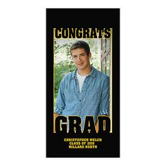 Celebrate your grad right from the front door with this custom graduation party decoration! By why just hang it as a decoration? Transform your grad's ...