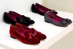 NEGRI FIRENZE velvet loafers and suede ballerinas