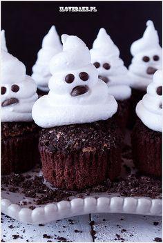 Archiwa: Babeczki - I Love Bake Ghost Cupcakes, Nutella, Baking, My Love, Recipes, Scary Funny, Halloween Cupcakes, Ideas, Bakken