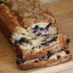Blueberry Cream Cheese Bread - varying degrees of success - but looks worth it.