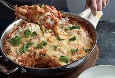 Lazy vegetable one-skillet lasagna