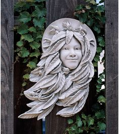 Outdoor Décor-Design Toscano Daphne Greenwoman Wall Sculpture * Check out the image by visiting the link. Outdoor Wall Art, Outdoor Walls, Garden Statues, Garden Sculpture, Outdoor Sculpture, Hand Painted Walls, Bronze, Green Man, Wall Sculptures