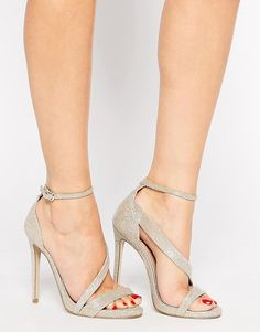 Carvela | Carvela Gosh Gold Heeled Strap Sandals at ASOS