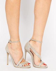 Carvela | Carvela Gosh Gold Heeled Strap Sandals at ASOS