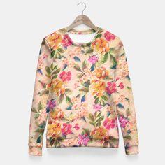 Golden Flitch (Digital Vintage Retro / Glitched Pastel Flowers - Floral design…