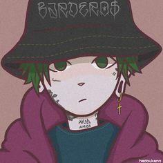 Anime Rapper, Rapper Art, Trap Art, Lil Peep Hellboy, Cartoon Profile Pictures, Dope Art, Sword Art Online, Cartoon Drawings, Anime Love
