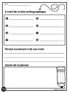 Les belles feuilles d'exercices toutes colorées, c'est beau en titi!  Par contre, dans ma réalité, je ne peux que rarement me payer le luxe... French Language Lessons, French Lessons, Teaching French Immersion, French Teaching Resources, French Education, Teachers Corner, French Classroom, Teacher Tools, Teacher Stuff