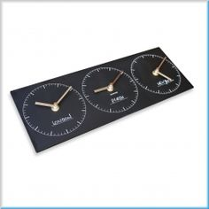 ECO Triple Time Zone Clock
