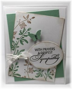 Tilted panels; sponged edges, popped up butterfly and sentiment.  Scrappin' and Stampin' in GJ