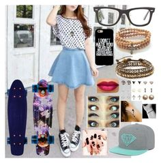 """rtd"" by kirra-joy-brooks-02 ❤ liked on Polyvore featuring Chan Luu, Ray-Ban, Vivien Frank Designs, Wet Seal and Disney"