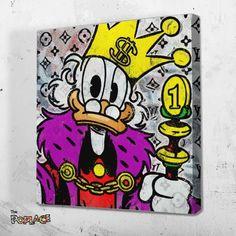 Tableau PIMP PICSOU - © COPYRIGHT ThePoplace.com Art Mural 3d, Graffiti Murals, 3d Wall Art, Street Art Graffiti, Mini Canvas Art, Canvas Wall Art, Pop Art Disney, Art Mini Toile, Dagobert Duck