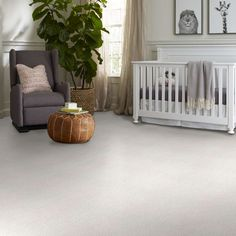 Our Find Your Comfort II Family Friendly Carpet is a beautiful carpet for nurseries. Durable enough to be ideal for kid's carpet unique texture is a new take on the classic solid with a subtle hint of color variation giving the savvy consumer a tailored look. It retails starting at $3.99 SQ FT.