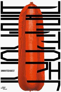 Kimeojin_Uninvited Guest_print Typo Design, Design Typography, Graphic Design Posters, Graphic Design Inspiration, Graphic Prints, Book Design, Cover Design, Typographic Poster, Poster Layout