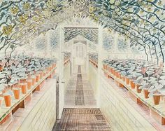 Ravilious: The Greenhouse: Cyclamen and Tomatoes (custom print)