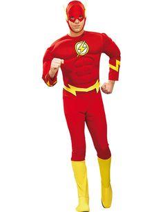 The Flash Superheld Comic Kostüm rot-gelb, aus unserer Kategorie Superheldenkostüme. Der schnellste Mann der Welt ist zurück! The Flash (alias Barry Allen) aus dem Hause DC Comics bekämpft seine Feinde mit Lichtgeschwindigkeit - weder Professor Zoom, noch Captain Cold oder Gorilla Grodd haben eine Chance gegen den roten Blitz! Ein sensationelles Kostüm für Karneval und Superhelden Mottopartys.