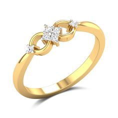 Peggy Diamond Studded Gold Ring