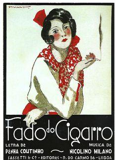 """Vintage Ad - """"Fado do Cigarro"""""""