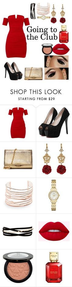 """""""Going to the Club"""" by cutesyart ❤ liked on Polyvore featuring WithChic, Michael Kors, Dolce&Gabbana, Alexis Bittar, Kate Spade, Kenneth Jay Lane and Bellini"""
