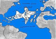 imaginario plano de la Atlántida. Misteriosa ciudad en el fondo del mar localizada en las Canarias Un ingeniero inglés dice que está a 5.631 metros de profundidad en el Atlántico