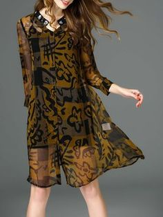 Multicolor Printed Casual Silk Abstract Midi Dress With Camis
