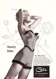 1952 Cole of California ad, art by Ren Wicks