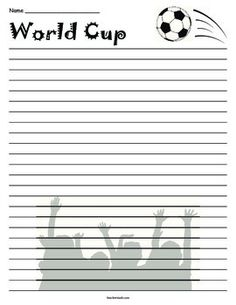 World Cup Soccer Lined Paper