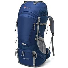 Mountaintop NEW] Internal Frame Backpack Water-resistant Hiking Backpack Backpacking Trekking Bag for Climbing,camping,hiking,Travel and Mountaineering with Rain >>> You will love this! More info here : Womens hiking backpack Men Hiking, Camping And Hiking, Hiking Gear, Tent Camping, Camping Bags, Family Camping, Camping Gear, Travel Backpack, Backpack Bags