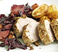 Pork with braised red cabbage & pears recipe - Recipes - BBC Good Food