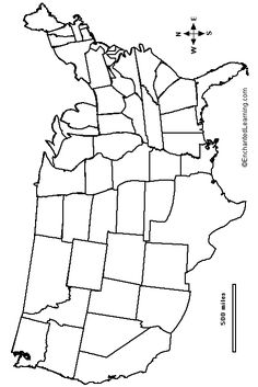 Outline Map Us States Used For The Edible Map Activity