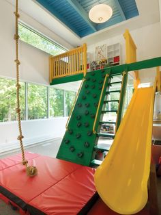 An indoor playroom in this Pittsburgh home offers hours of fun for children in the winter months. Photo by Thom Sivo. To see the full story ...