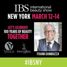 We are counting down the days until the 100th anniversary of the International Beauty Shows in NYC!  @ibs_shows  There will be more than 100 educational workshops including a Master Class Panel moderated by @FrankGambuzza with several members of @IntercoiffureAC discussing the Past Present & Future of the Salon Industry! (March 13 2-4pm) You don't want to miss it! For ticket links and additional details see our FB page!  #ibsny #ibsturns100 #visagemoments #icamoments