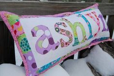 Quilted Name Pillow - QUILTING hopefully ill get a sewing machine for christmas and i can start making these!!