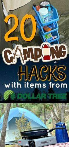Going camping this summer? Check out these 20 camping hacks you can do with items from the Dollar Tree!