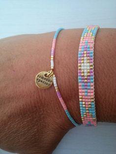 ✔ Jewelry Accessories Bracelets Diamond I needed showing you steps to make a bracelet with natural stone … Loom Bracelet Patterns, Bead Loom Bracelets, Bead Loom Patterns, Jewelry Patterns, Beading Patterns, Beading Ideas, Beading Supplies, Diy Bracelet, Woven Bracelets