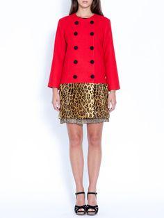 Wren - Combo Coat - Red/Leopard. I like this