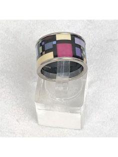 Freywille Designer Ring Contemporary Art Manhattan versilbert ID: Manhattan, Ring Designs, Designer, Contemporary Art, Enamel, Ring, Schmuck, Modern Art, Contemporary Artwork