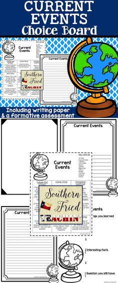 Current Events | Choice Board | 9 different activities for students to choose from | Key Words Included in this choice board: ~ 9 creative activities for students to choose from ~ Key words associated with Veterans Day #currentevents #choiceboards #differentiation