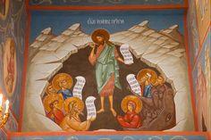 Jan Chrzciciel i sprawiedliwi czekają na Zejście Chrystusa do otchłani. Johannes de Doper en de rechtvaardigen wachten op de afdaling van Christus naar limbo.