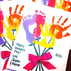 Mother's Day handprint footprint craft.  Perfect for Grandma.