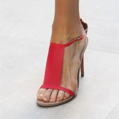 How about this shoe?  Share to get a coupon for all on FSJ Women's Red T-strap Sandals Open Toe Stiletto Heels Summer Sandals