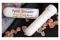 NETI INHALER Sinus & Lung Relief. HIMALAYAN SALT AIR & Essential Oils! Respiratory Wellness. Clearing, Healing Ions, Aromatherapy. Energizing scent! Breathe SALT AIR anywhere! Pocket or Purse Stick, Handy Portable. Contains Himalayan Pink Salt, Essential Oils of Peppermint, Eucalyptus, Lavender, Tea Tree. Inhale Deeply for Colds, Asthma, Cough. Ion therapy. 100% Pure and Natural.