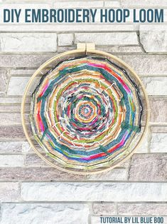 Embroidery Hoop Loom Weaving from MichaelsMakers Lil Blue Boo