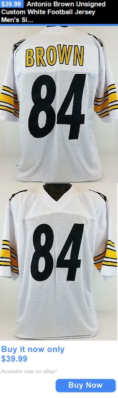 Sports Memorabilia: Antonio Brown Unsigned Custom White Football Jersey Mens Size 2Xl BUY IT NOW ONLY: $39.99