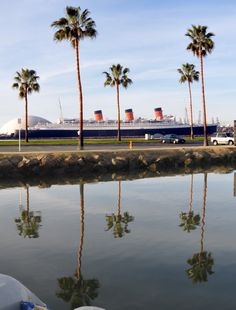 HMS Queen Mary, at Long Beach, CA,, Photo by D Ramey Logan. Do click on this image, and the next two images, for an up-close look at this image.