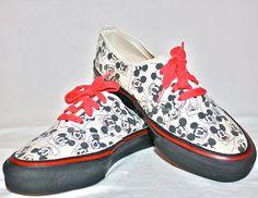 c368077c373 Mickey Mouse VINTAGE VANS Sneakers Punk New Wave Skate Shoes sz 7.5.   180.00