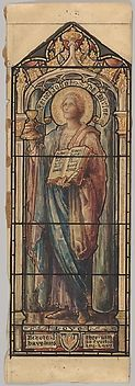 St. John the Divine, Representing Love: Design for a Stained Glass Window, First Presbyterian Church, Flemington, New Jersey (one of a set of seven).  Art Object | The Metropolitan Museum Mobile