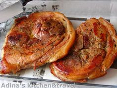 Adina's kitchen & travel: Jambon de porc suculent cu garnitura de fasole verde aromata Gordon Ramsay, French Toast, Pork, Meat, Breakfast, Kitchen, Travel, Green, Kale Stir Fry