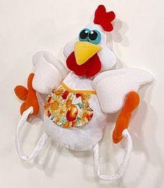 Artesanato e Cia : Molde-galinha em tecido