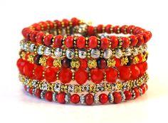 inspi(red) coil bracelet by Lumibon